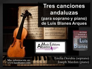 Carátula Tres canciones andaluzas